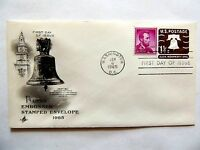 """January 6th, 1965 """"Liberty Bell"""" 1.25 Cent Embossed Stamp Envelope 1st Day Issue"""