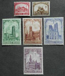 Belgium 1928 Tuberculosis, Yv #267-272, MNH, CV=85EUR