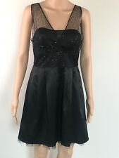 Valley Girl Black  Womens Cocktail Dress Evening Party Size 10
