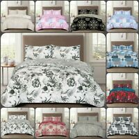 4PCS Luxury Cotton Rich Bedding Set Quilt / Duvet Cover Fitted Sheet Pillowcases