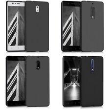 Custodia Cover Back Case Matt Opaca per Nokia in Silicone Nera Anti-impronta