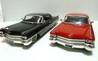 (2 Colors) 1963 CADILLAC HARD TOP 1:24 JADA BIG TIME KUSTOMS DIECAST MODEL CAR