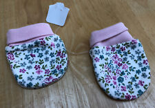 BABY GIRLS FLORAL GLOVES MITTS