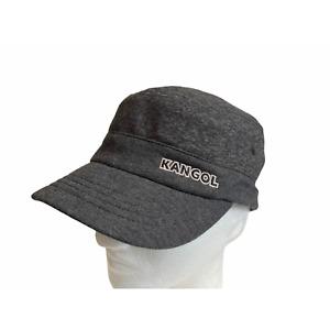 New Kangol Denali Marl Dark Grey Army Style Short Bill Hat Size Large / X-Large