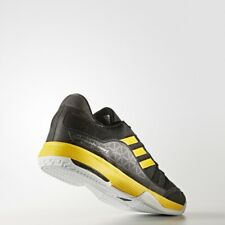 NEW Men's Adidas Barricade Court Tennis Shoes Black Yellow BY1648 size 14