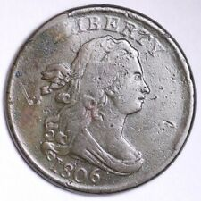1806 Draped Bust Half Cent CHOICE VF FREE SHIPPING E101 AFM