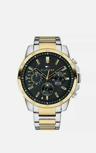 TOMMY HILFIGER SILVER & GOLD STAINLESS STEEL 1791559 MENS Watch 2 year Warranty