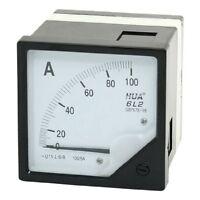 1Pcs AC 0-100A Class 1.5 Analog Panel Meter Amperemeter White Black 6L2