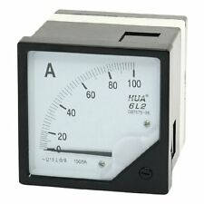 1Pcs AC 0-100A Class 1.5 Analog Panel Meter Amperemeter White Black 6L2