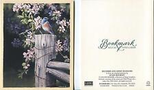 VINTAGE COPPER TEA POT ROSES FLOWERS BIBLE VERSE 1 BLUE BIRD APPLE BLOSSOMS CARD
