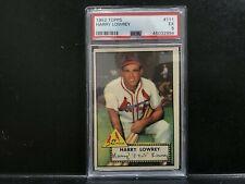 1952 Topps #111 Harry Lowrey PSA 5 EX - St. Louis Cardinals - Baseball Card