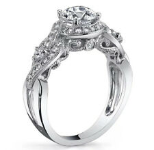Women's Silver Base Antique Style Wedding Bridal Engagement Ring Size 7 R51