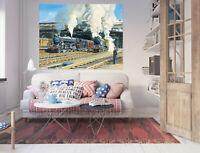 3D Train Station ZHU125 Wall Stickers Wall Murals Wallpaper Trevor Mitchell Amy
