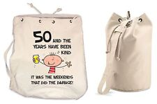 The Years Have Been Kind 50th Birthday Present Duffle Backpack Bag - Funny Gift