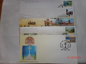 """-  INDIA STAMPS  -5 'FIRST DAY COVERS' & 5 'BROCHURES' - """"GREAT EVENTS"""" - 2009"""