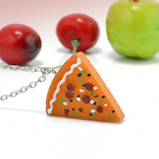 Newest Pizza Slice Pendant Friendship Necklace Best Friends Family Sisters 1PC