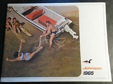 PRINTED GERMAN VINTAGE 1965 JOHNSON OUTBOARD MOTOR SALES BROCHURE 18 PG  (304)