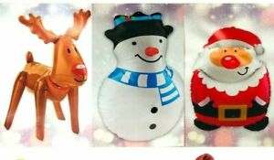 Christmas Inflatable Character Decoration Toy Santa Snowman Reindeer Blow Up