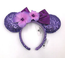 Purple Plumeria Aulani Hawaii Disneyland Disney Parks Minnie Ears Headband