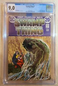 Swamp Thing #1 CGC 9.0 1st Appearance first solo Swamp Thing Origin Matt Cable