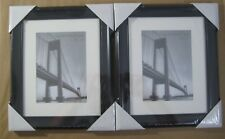 "2 New Elegant 8"" x 10"" Picture Photo Frames Art Black Plastic Free Standing 8x10"