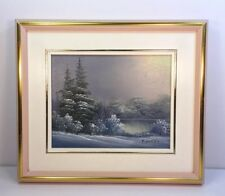 Nice Small Size Landscape Oil Painting ( Artist, Signed )
