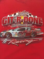 Larry The Cable Guy Racing GIT R DONE T-Shirt Size XXXL Red Cotton T-Shirt