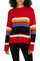 Sanctuary Womens Sweater Red Size XS Party Stripe Crewneck Pullover $99- 170