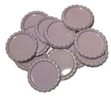 10 pcs. Pink lavender flattened bottle caps