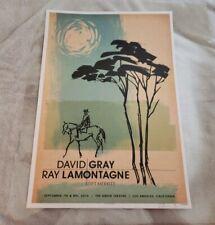 Ray LaMontagne and David Gray Concert Poster Original
