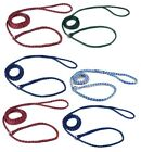 Braided Poly Dog Control Slip Leads Assorted Color Vet Rescue Kennel Bulk Packs