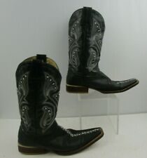 Men's La Mexicana Black Leather Sting Ray Snip Toe Western Boots Size: 6