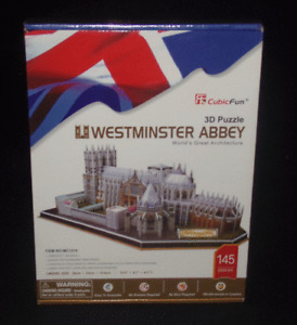 CubicFun 3D Puzzle Westminster Abbey Worlds Great Architecture New Sealed