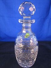 WATERFORD CRYSTAL Spirit Decanter #451-421-00 Round Stopper GOTHIC MARK ~EXCELL