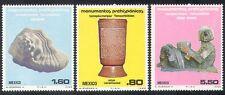 México 1980 arte/estatua/Vidrio/Caracol/Fossil/Historia/Patrimonio 3 V Set (n39936)