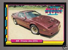 1988 PONTIAC TRANS-AM GTA 350ci 225hp V8 Muscle Car Photo 1992 TRADING CARD
