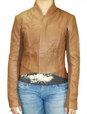VEDA Women's Stone Zipper Up Hi-Lo Hem Tail Back Leather Jacket VIX0116 Sz M NWT