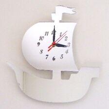 Pirate Ship Clock - Acrylic Mirror (Several Sizes Available)
