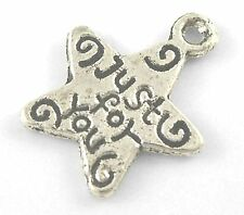 14g (Approx 30pcs) Tibetan Silver Colour Just For You Star Charm