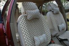 NEW Deluxe Auto Car Seat Steering Wheel Belt Covers Seat Covers Cushion