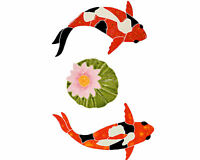 Mosaic Koi Fish and Lily Pads for Swimming Pool or Wall  *Free Shipping*