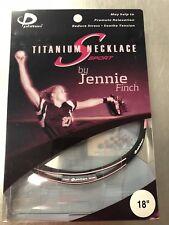 "Jennie Finch Titanium Necklace S Sport 18"" Nib New Phiten Softball"