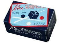 2 Pieces Of Blue Diamond Premium High End Pool Cue & Billiard Chalk - 1 Box