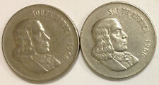 SOUTH AFRICA 50 CENT COIN SET/2 1966