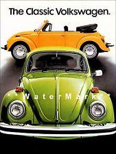 VW Beetle 1977 Vintage Poster Print Classic German Car The Bug Advertisement