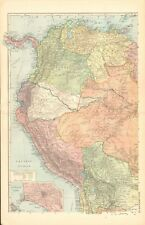 1920s MAPS -  SOUTH AMERICA, COMPLETE IN 3 MAPS