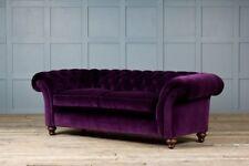 Chesterfield Design Luxus Polster Sofa Couch Sitz Garnitur Leder Textil Neu #130