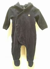 babyGap navy velour hooded playsuit 6-12 month NWT
