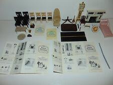 Vintage IDEAL Petite Princess + OTHER Brands Mini-Dollhouse Furniture Lot 35 PC