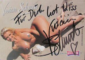 Autogrammkarte VIVIAN SCHMITT persönlich signiert Erotik Model Nude AkT MODEL